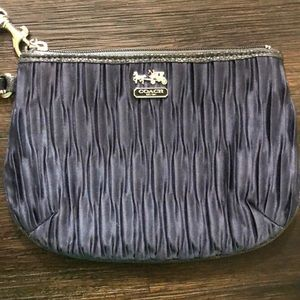 Coach Black/Navy Ruched Wristlet